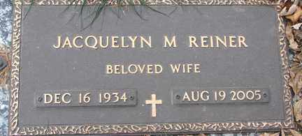 REINER, JACQUELYN M. - Minnehaha County, South Dakota | JACQUELYN M. REINER - South Dakota Gravestone Photos