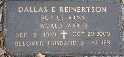REINERTSON, DALLAS E. (WWII) - Minnehaha County, South Dakota   DALLAS E. (WWII) REINERTSON - South Dakota Gravestone Photos
