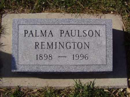 PAULSON REMINGTON, PALMA - Minnehaha County, South Dakota | PALMA PAULSON REMINGTON - South Dakota Gravestone Photos