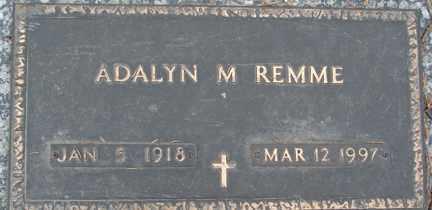 REMME, ADALYN M. - Minnehaha County, South Dakota   ADALYN M. REMME - South Dakota Gravestone Photos