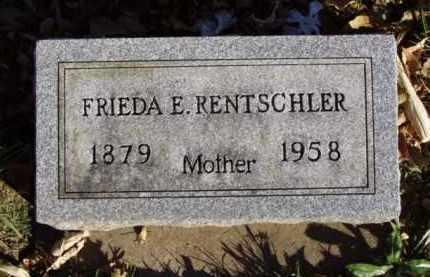 RENTSCHLER, FRIEDA E. - Minnehaha County, South Dakota | FRIEDA E. RENTSCHLER - South Dakota Gravestone Photos