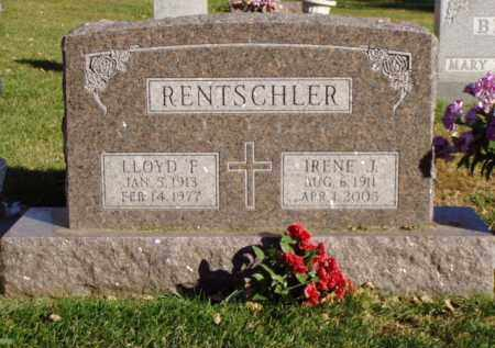 RENTSCHLER, LLOYD F. - Minnehaha County, South Dakota | LLOYD F. RENTSCHLER - South Dakota Gravestone Photos
