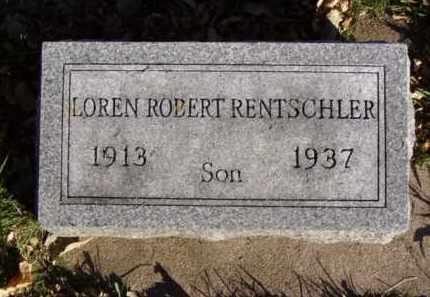 RENTSCHLER, LOREN ROBERT - Minnehaha County, South Dakota   LOREN ROBERT RENTSCHLER - South Dakota Gravestone Photos