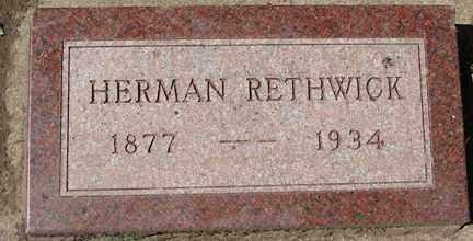 RETHWICK, HERMAN - Minnehaha County, South Dakota | HERMAN RETHWICK - South Dakota Gravestone Photos