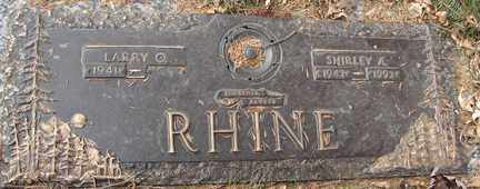 RHINE, SHIRLEY A. - Minnehaha County, South Dakota | SHIRLEY A. RHINE - South Dakota Gravestone Photos