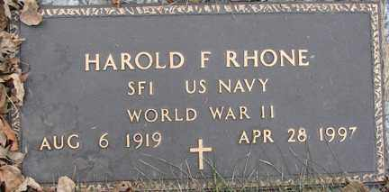 RHONE, HAROLD F. (WWII) - Minnehaha County, South Dakota | HAROLD F. (WWII) RHONE - South Dakota Gravestone Photos