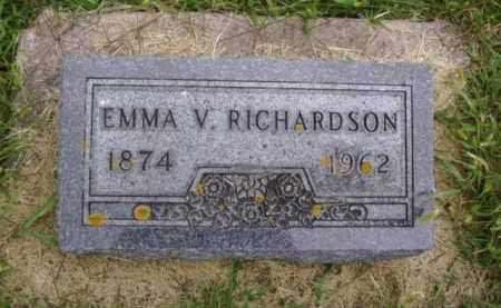 RICHARDSON, EMMA V. - Minnehaha County, South Dakota | EMMA V. RICHARDSON - South Dakota Gravestone Photos