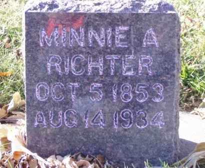 RICHTER, MINNIE A. - Minnehaha County, South Dakota | MINNIE A. RICHTER - South Dakota Gravestone Photos