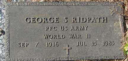 RIDPATH, GEORGE S. (WWII) - Minnehaha County, South Dakota | GEORGE S. (WWII) RIDPATH - South Dakota Gravestone Photos