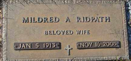 RIDPATH, MILDRED A. - Minnehaha County, South Dakota   MILDRED A. RIDPATH - South Dakota Gravestone Photos