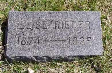 RIEDER, ELISE - Minnehaha County, South Dakota | ELISE RIEDER - South Dakota Gravestone Photos