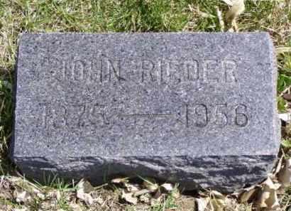 RIEDER, JOHN - Minnehaha County, South Dakota | JOHN RIEDER - South Dakota Gravestone Photos