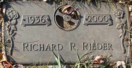 RIEDER, RICHARD R. - Minnehaha County, South Dakota | RICHARD R. RIEDER - South Dakota Gravestone Photos