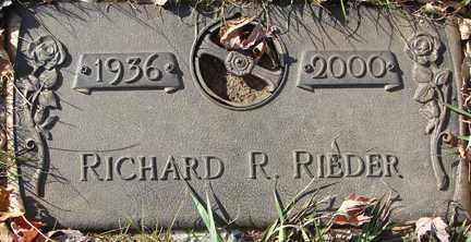RIEDER, RICHARD R. - Minnehaha County, South Dakota   RICHARD R. RIEDER - South Dakota Gravestone Photos