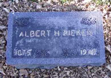 RIEKEN, ALBERT H. - Minnehaha County, South Dakota | ALBERT H. RIEKEN - South Dakota Gravestone Photos