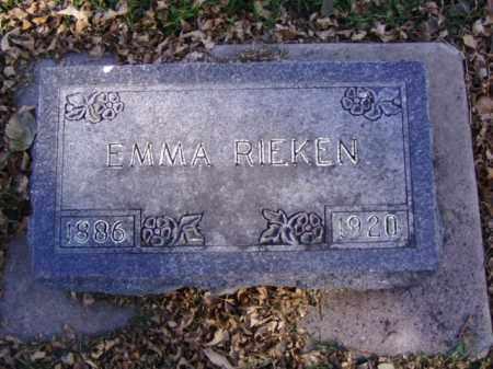 RIEKEN, EMMA - Minnehaha County, South Dakota | EMMA RIEKEN - South Dakota Gravestone Photos