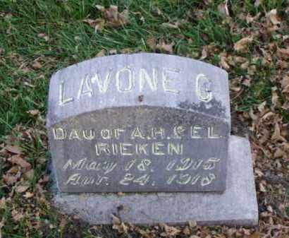 RIEKEN, LAVONE G. - Minnehaha County, South Dakota | LAVONE G. RIEKEN - South Dakota Gravestone Photos