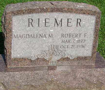 DIEBOLD RIEMER, MADGALENA - Minnehaha County, South Dakota   MADGALENA DIEBOLD RIEMER - South Dakota Gravestone Photos