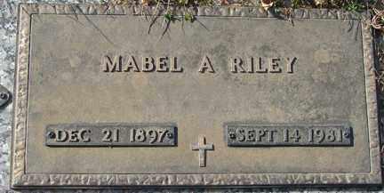 RILEY, MABEL A. - Minnehaha County, South Dakota   MABEL A. RILEY - South Dakota Gravestone Photos