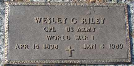 RILEY, WESLEY G. (WWI) - Minnehaha County, South Dakota | WESLEY G. (WWI) RILEY - South Dakota Gravestone Photos