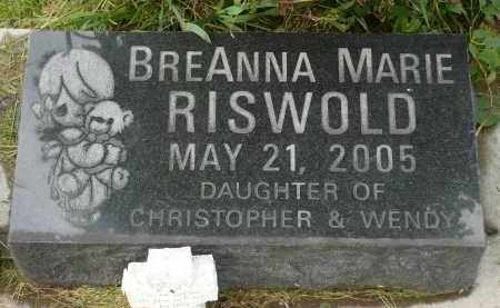 RISWOLD, BREANNA MARIE - Minnehaha County, South Dakota | BREANNA MARIE RISWOLD - South Dakota Gravestone Photos
