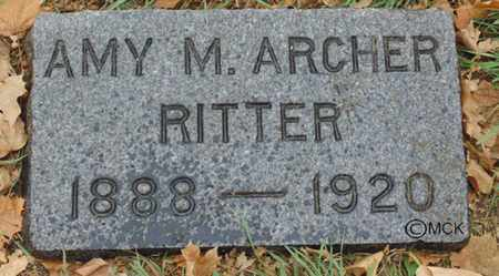 RITTER, AMY M. - Minnehaha County, South Dakota | AMY M. RITTER - South Dakota Gravestone Photos