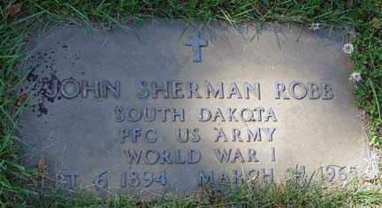 ROBB, JOHN SHERMAN - Minnehaha County, South Dakota | JOHN SHERMAN ROBB - South Dakota Gravestone Photos