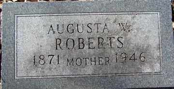 ROBERTS, AUGUSTA W. - Minnehaha County, South Dakota | AUGUSTA W. ROBERTS - South Dakota Gravestone Photos