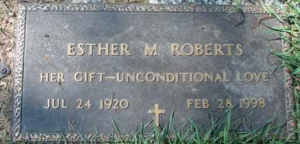 ROBERTS, ESTHER M. - Minnehaha County, South Dakota   ESTHER M. ROBERTS - South Dakota Gravestone Photos