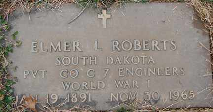 ROBERTS, ELMER L. (WWI) - Minnehaha County, South Dakota | ELMER L. (WWI) ROBERTS - South Dakota Gravestone Photos