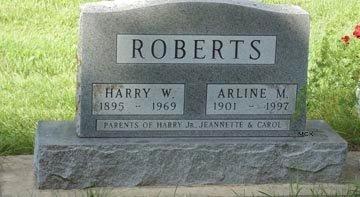 ROBERTS, ARLINE M. - Minnehaha County, South Dakota | ARLINE M. ROBERTS - South Dakota Gravestone Photos