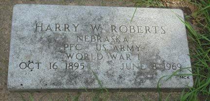 ROBERTS, HARRY W. - Minnehaha County, South Dakota | HARRY W. ROBERTS - South Dakota Gravestone Photos