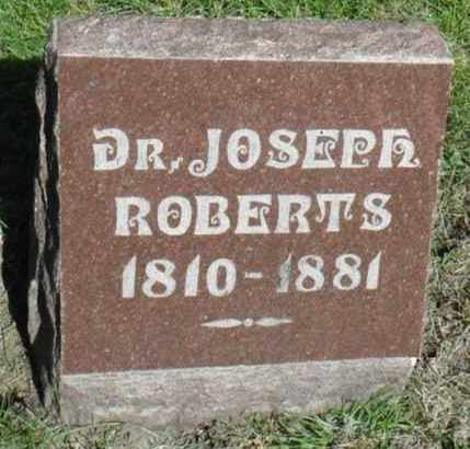 ROBERTS, JOSEPH, DR. - Minnehaha County, South Dakota | JOSEPH, DR. ROBERTS - South Dakota Gravestone Photos