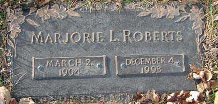 ROBERTS, MARJORIE L. - Minnehaha County, South Dakota | MARJORIE L. ROBERTS - South Dakota Gravestone Photos