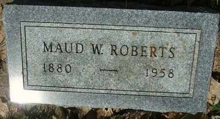 ROBERTS, MAUD W. - Minnehaha County, South Dakota | MAUD W. ROBERTS - South Dakota Gravestone Photos