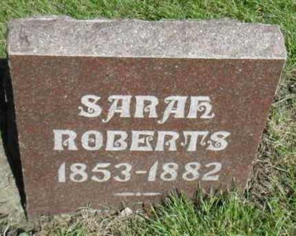 ROBERTS, SARAH - Minnehaha County, South Dakota   SARAH ROBERTS - South Dakota Gravestone Photos