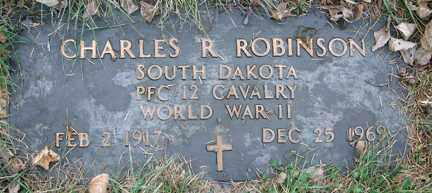 ROBERTSON, CHARLES R. (WWII) - Minnehaha County, South Dakota | CHARLES R. (WWII) ROBERTSON - South Dakota Gravestone Photos