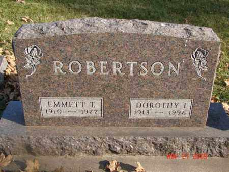 ROBERTSON, EMMETT T. - Minnehaha County, South Dakota | EMMETT T. ROBERTSON - South Dakota Gravestone Photos