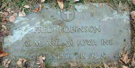 ROBERTSON, FRED - Minnehaha County, South Dakota | FRED ROBERTSON - South Dakota Gravestone Photos