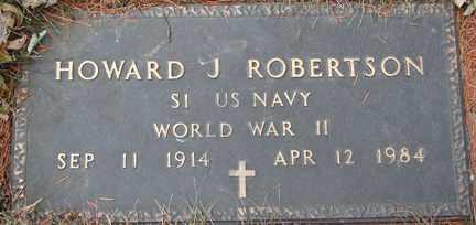 ROBERTSON, HOWARD J. (WWII) - Minnehaha County, South Dakota | HOWARD J. (WWII) ROBERTSON - South Dakota Gravestone Photos