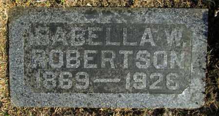 ROBERTSON, ISABELLA MARIA - Minnehaha County, South Dakota | ISABELLA MARIA ROBERTSON - South Dakota Gravestone Photos