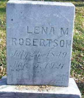 ROBERTSON, LENA M. - Minnehaha County, South Dakota   LENA M. ROBERTSON - South Dakota Gravestone Photos