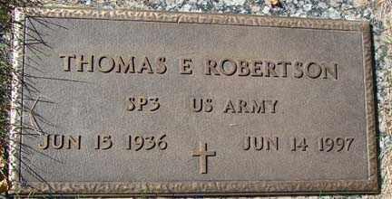 ROBERTSON, THOMAS E. - Minnehaha County, South Dakota | THOMAS E. ROBERTSON - South Dakota Gravestone Photos