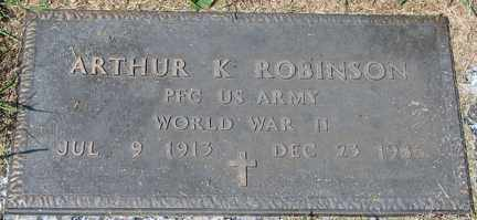 ROBINSON, ARTHUR K. (WWII) - Minnehaha County, South Dakota | ARTHUR K. (WWII) ROBINSON - South Dakota Gravestone Photos
