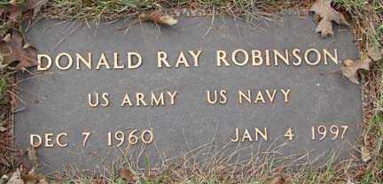 ROBINSON, DONALD RAY - Minnehaha County, South Dakota | DONALD RAY ROBINSON - South Dakota Gravestone Photos