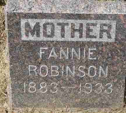 ROBINSON, FANNIE - Minnehaha County, South Dakota | FANNIE ROBINSON - South Dakota Gravestone Photos