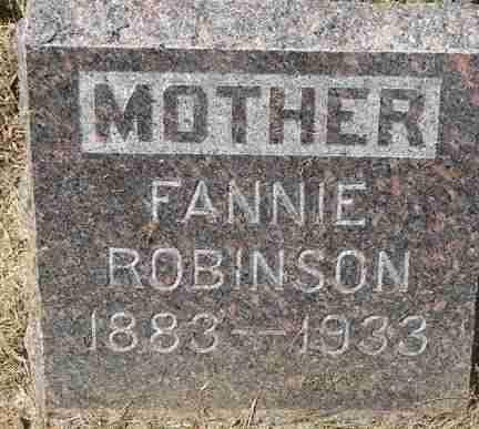 ROBINSON, FANNIE - Minnehaha County, South Dakota | FANNIE ROBINSON - South Dakota Gravestone Photos