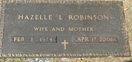 ROBINSON, HAZELLE L. - Minnehaha County, South Dakota   HAZELLE L. ROBINSON - South Dakota Gravestone Photos
