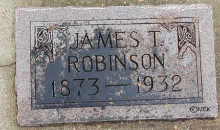 ROBINSON, JAMES T. - Minnehaha County, South Dakota   JAMES T. ROBINSON - South Dakota Gravestone Photos