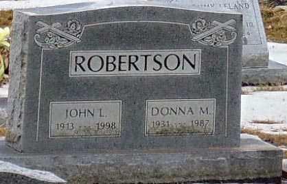 ROBERTSON, JOHN L. - Minnehaha County, South Dakota | JOHN L. ROBERTSON - South Dakota Gravestone Photos